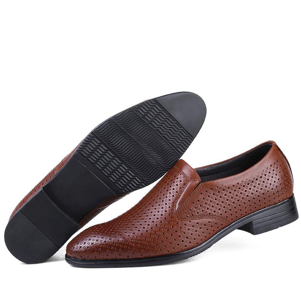2018 2018 2018 Herren Business Oxford Casual Größe des Codes British Leder und ausgehöhlten Formelle Schuhe (Farbe   Hollow Light braun, Größe   40 EU) (Farbe   Wie Gezeigt, Größe   Einheitsgröße) 361e3b