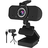 Gemwon 1080P Webcam with Built-in Microphone & Privacy Cover, 360 Degree Rotation, Plug and Play, 110 Degree Wide View…