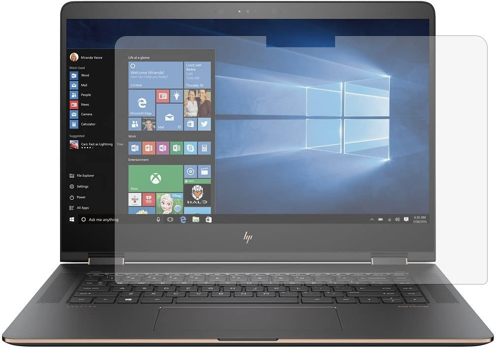 PcProfessional Screen Protector (Set of 2) for HP Spectre x360 15t [Release After February 2017] BL-series 15-BL012dx 15-BL075nr 15 15.6