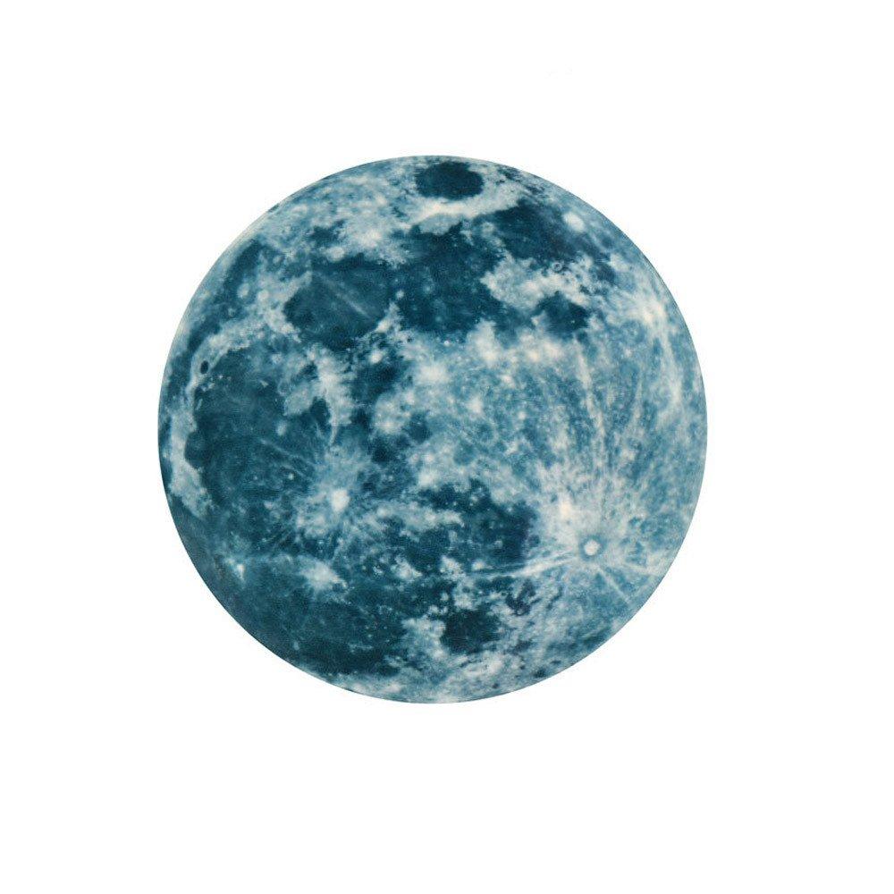 Kingwo-sticker Muraux Lumineux de Lune Autocollant Mur 3D Fluorescent Grande Lune Stickers Détachable Autocollant Brillant Papier (Vert, 12CM)