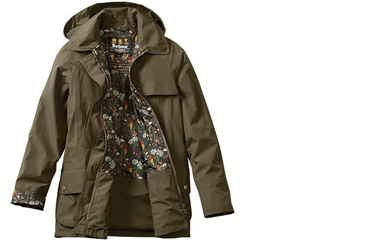 a64924cec6d4e Amazon.com: Barbour Wytherstone Women's Waterproof Rain Jacket - Army  Green: Clothing