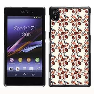 ZECASE Funda Carcasa Tapa Case Cover Para Sony Xperia Z1 L39H No.0000066