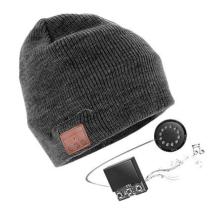 grande selezione prezzi economici migliore online Cuffie Cappello,Caldo Cappello Auricolare Bluetooth Cappello unisex,con  auricolari stereo e microfono integrato per corsa, sci, pattinaggio, ...