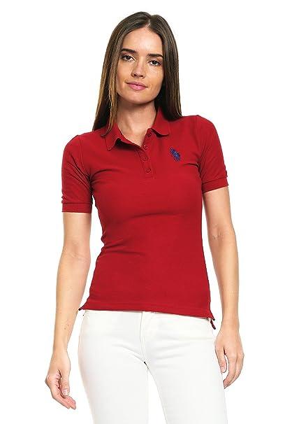 b32de64dd3929 HPC Polo Playera Roja tipo Polo Playera para Mujer Rojo Talla L ...