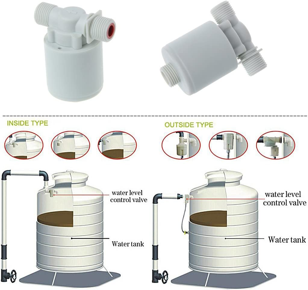 OTGO1 pc Automatic Water Level Control Valve Tower Tank Floating Ball Valve Outside Type