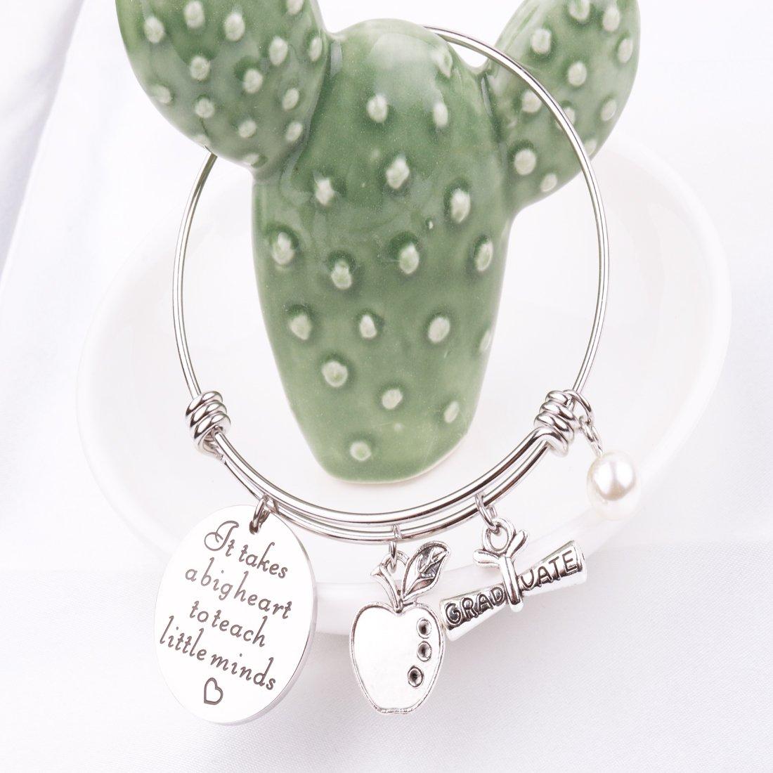 RUNXINTD Teacher Appreciation Gift It Takes a Big Heart to Teach Little Minds/
