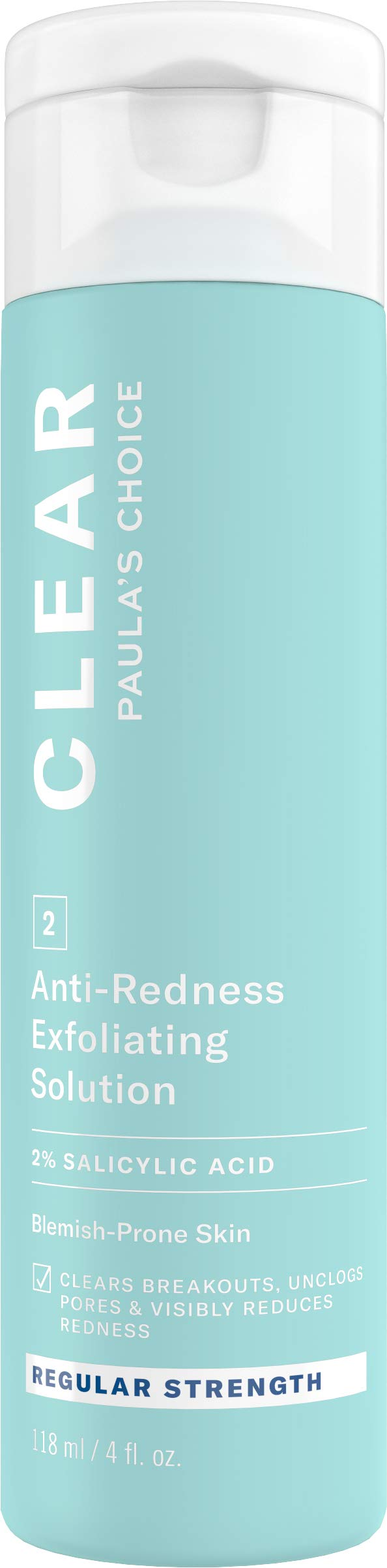 Paula's Choice CLEAR Regular Strength Exfoliator, 2% Salicylic Acid Exfoliant for Acne, Redness Relief, 4 Ounce by PAULA'S CHOICE