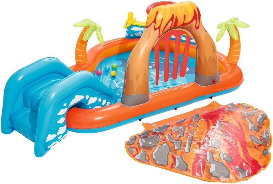 QXM Volcanic Play Pool Recreation Pool Piscine pour Enfants,Clear