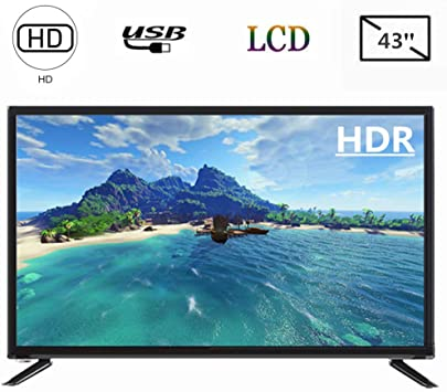 Tosuny Televisor LED 43 Pulgadas HD, Resolución 1920 x 1080, 2 x USB, 3 x HDMI, 3 x AV Input Smart TV Control de Comando de Voz(Enchufe UE): Amazon.es: Electrónica