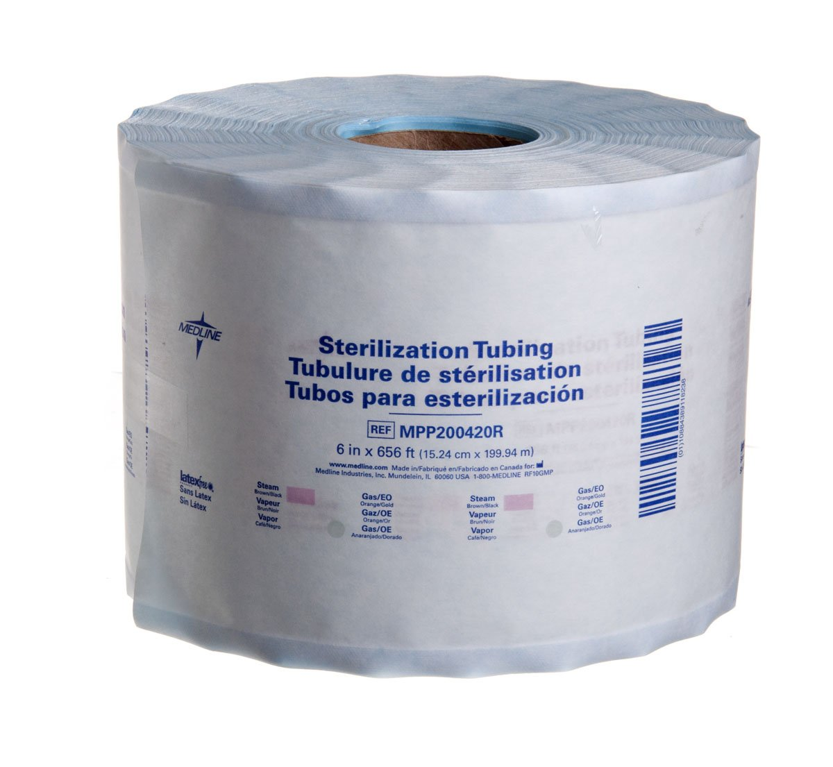 Medline MPP200420R Instrument Sterilization Tubing/Roll, 6'' x 656'