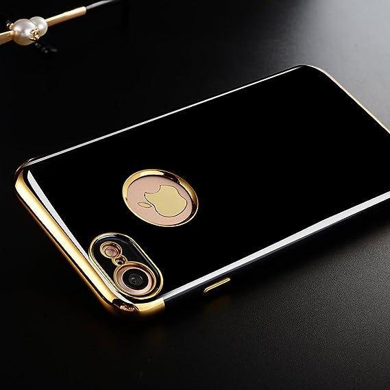 new concept dc91b 0f3ce Amazon.com: iPhone 7 Case, Romingo Hyun black Case Lite Clear ...