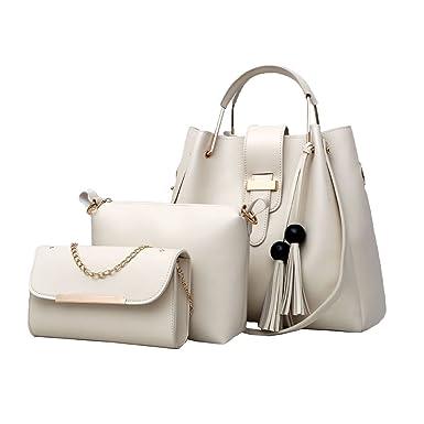 56d6b91762855 Frauen Designer Handtaschen Tote Handtasche Umhängetasche Eimer Tasche 3er  Pack