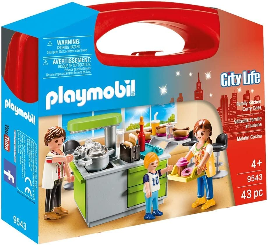 Amazon Com Playmobil 9543 City Life Collectable Family Kitchen