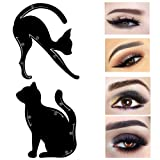 Amazon Price History:Wisdompark 4 Piece Cat Eyeliner Stencil, Matte PVC Material Repeatable Use Eyeliner Template Plate For Everyone from Beginner to Professionals