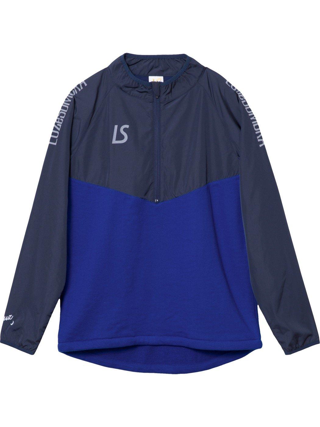 LUZeSOMBRA(ルースイソンブラ) HYBRID スウェットハーフジップトップ F1811101 B079SVN9BK XL|ネイビー/ブルー ネイビー/ブルー XL