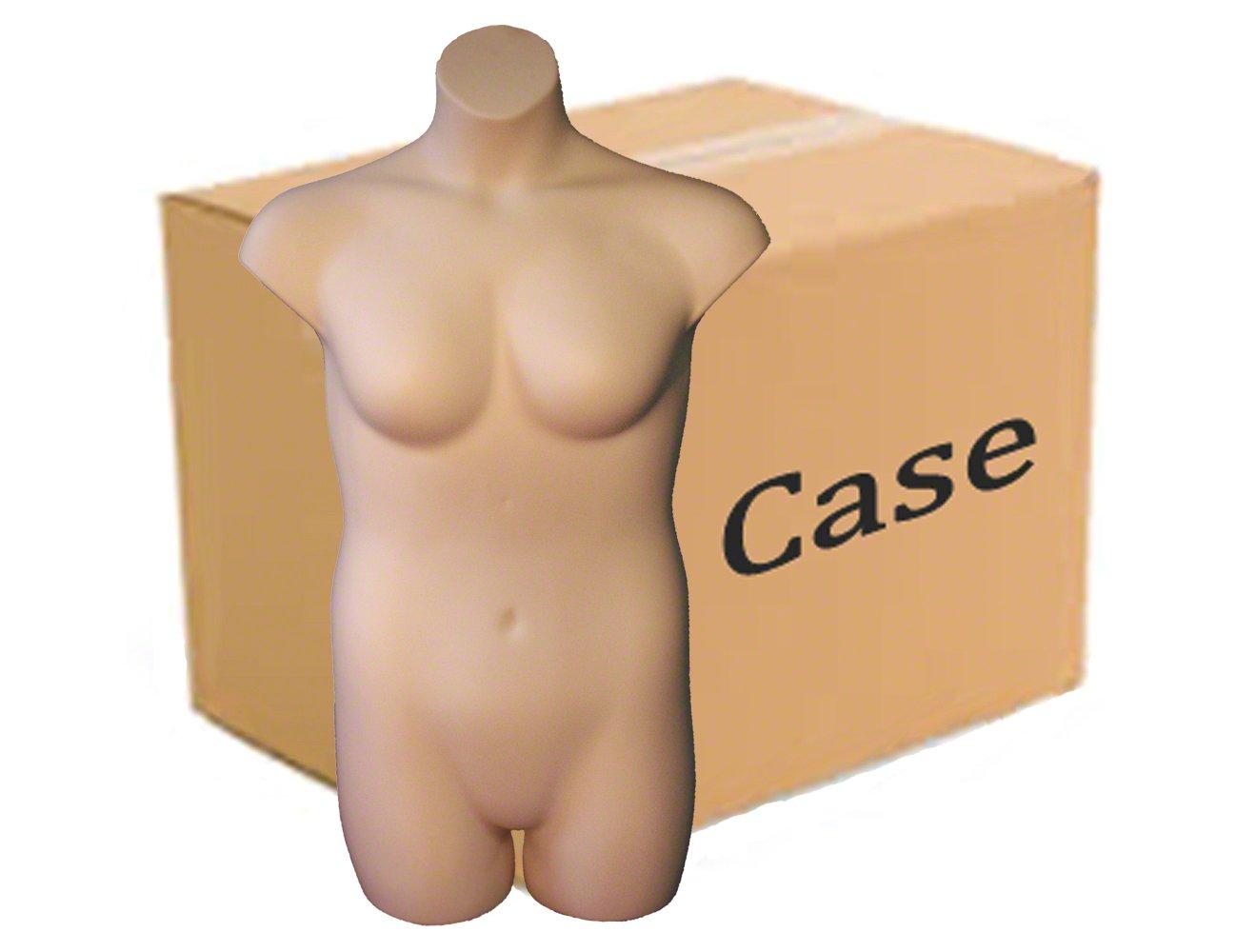Fleshtone Case of 3 Female Plus Size 3//4 Form