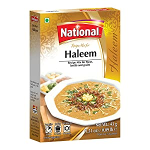 National Foods Haleem Recipe Mix 1.51 oz (43g)   Traditional Curry Spice Powder   Essential South Asian Dish   Lentil & Meat Stew Seasoning Food   Box Pack