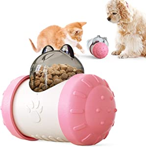Dog Cat Food Treat Dispenser Toy Snack Ball Balance car, Puzzle Interactive Food Toy, pet Feeder for Small and Medium Puppy,Kitten andrabbit