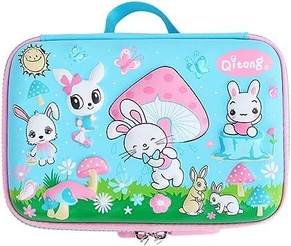 Estuche Escolar Coreano Kawaii para niñas y niños con diseño de Conejo, tamaño Grande, Caja con Cierre de Goma EVA: Amazon.es: Electrónica