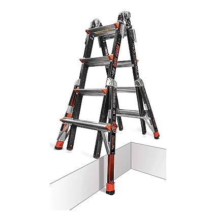 Little Giant 22 Dark Horse Multi Use Fiberglass Ladder With Ratchet