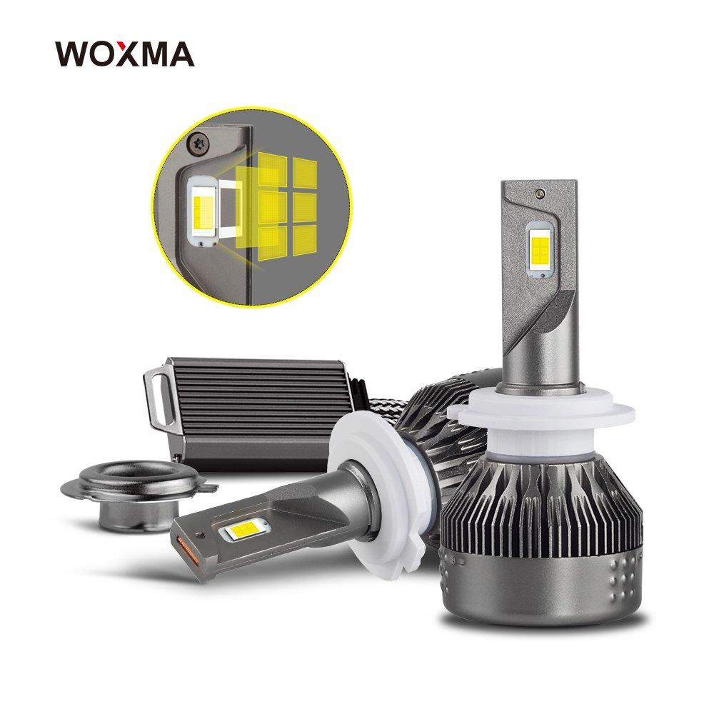 9007 LED Headlight Bulbs- Advanced Flip Chips/Adjustable Beam-72W 8600LM 6500K-Dual Hi/Lo Beam Bulbs-1 Year Warranty WOXMA LED