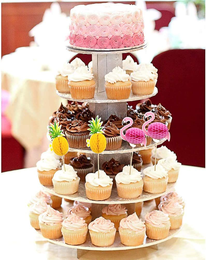 Lot de 24/Dor/é pour cupcakes Ananas Tropical d/ét/é Hawaii f/ête R/ésidence universitaire.