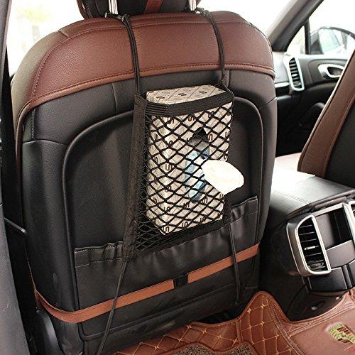para viajes perro barrera accesorios MINISTAR Bolsa de almacenamiento de malla para el coche bolsillo organizador el/ástico asiento trasero