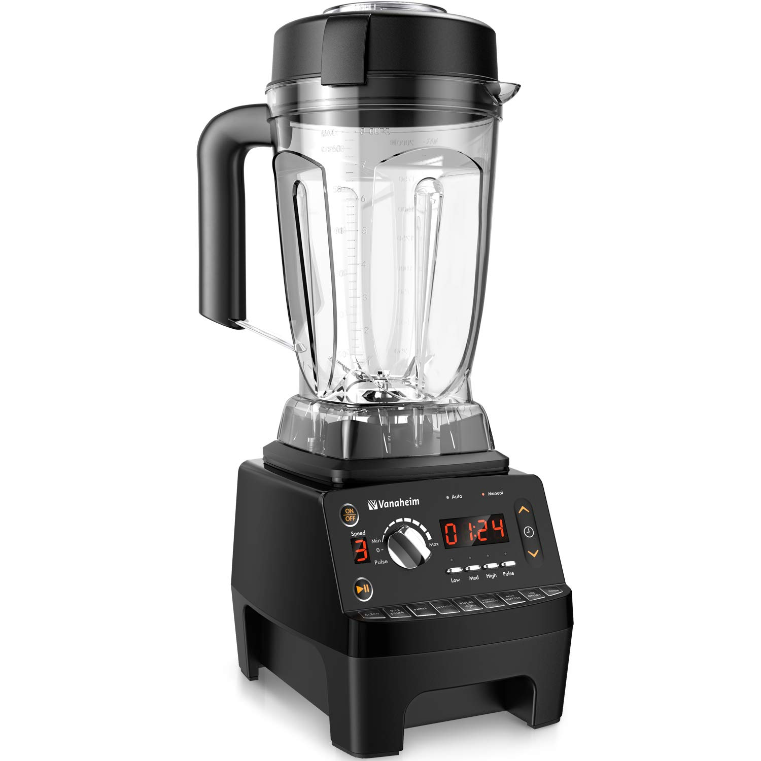 Vanaheim KB64 Professional Blender 1450W,64Oz Container,9 Programs,Variable Speed,Auto Clean,Powerful Stainless Steel Blade,Easily Crushing Ice,Smoothies,Juice