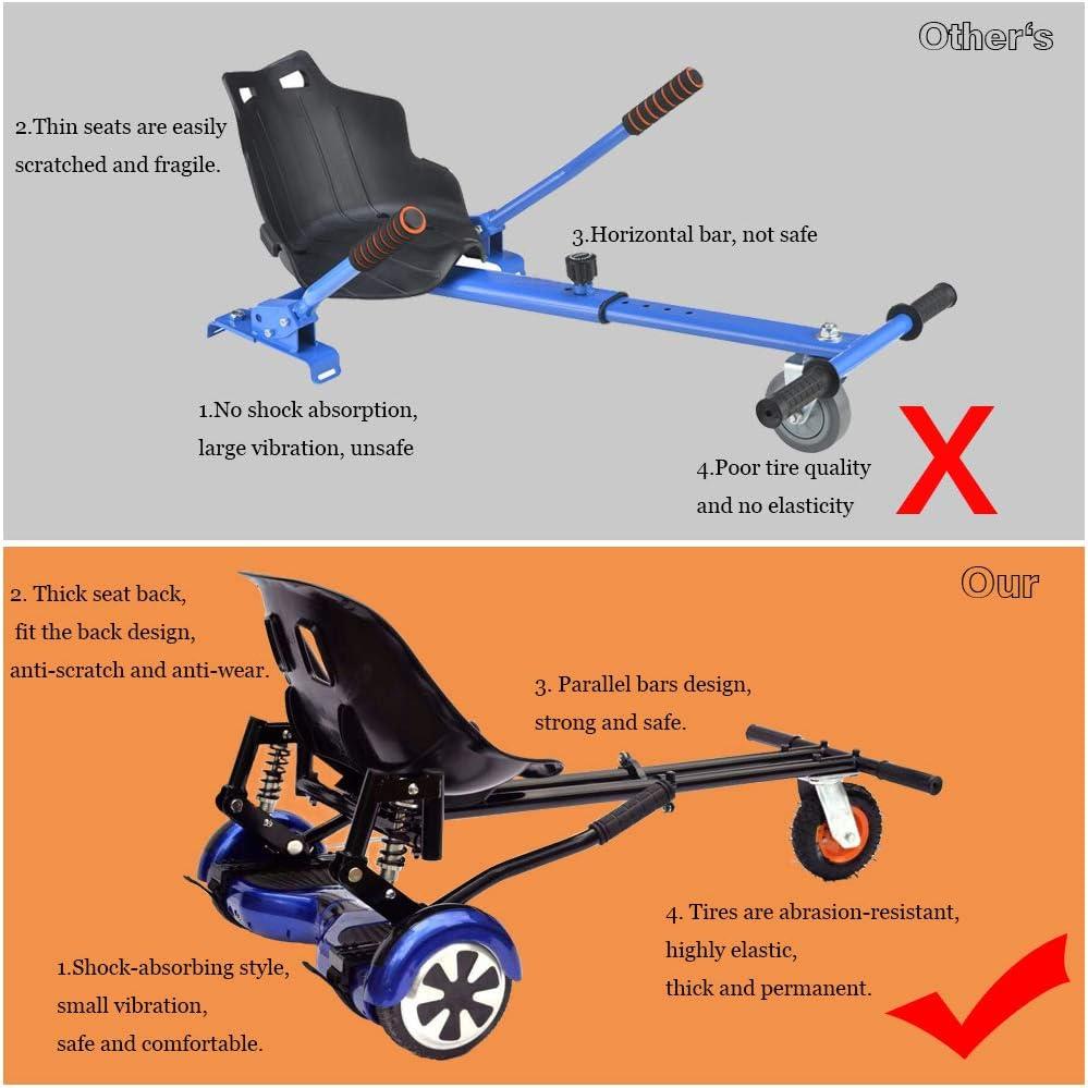 Kart para Patinete,Silla de Scooter Self Balance 2020Estilo de amortiguaci/ón,Nuevos Velcros M/ás Resistentes y Rueda LED,Regalo para ni/ños LIBRNTY Asiento Hoverboard