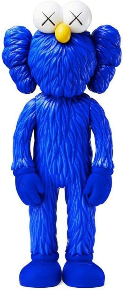N/J KAWS Action Figure Companion Model Art Figurines Collectible Ornaments Model Toy 13inch Easter/Christmas for Home Decoration, Party, Gift (Blue)