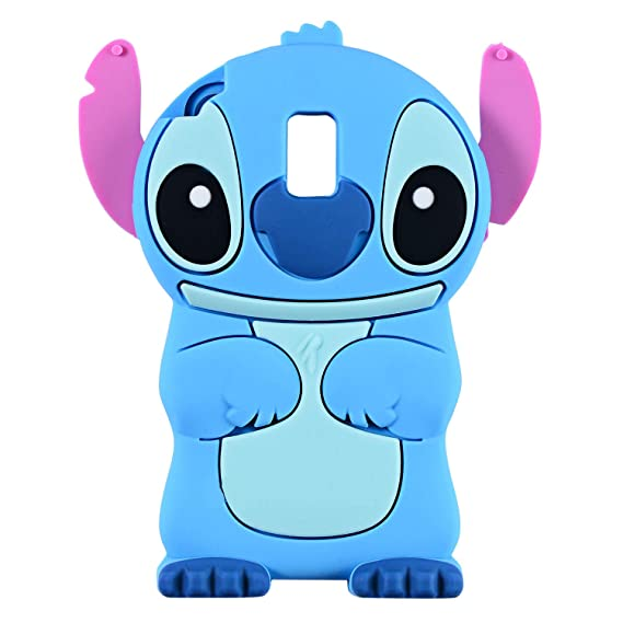 watch 6fe8a 677ed Blue Stitch Case for Samsung Galaxy J3 2018/J3 Achieve/J3 Star/Express/Amp  Prime 3/J3 V 3rd Gen/Sol 3,3D Cartoon Animal Cute Soft Silicone Rubber ...