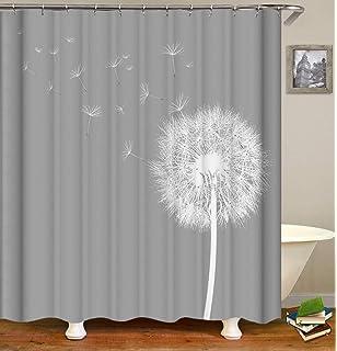 Dandelion Print Hanging Mechanism Wenko Anti-Mould Flex Astera Shower Curtain