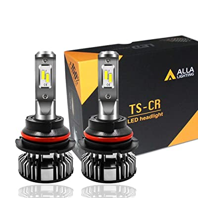 Alla Lighting 10000lm LED 9004 Headlight Bulbs Extremely Super Bright TS-CR HB1 9004 LED Headlight Bulbs Conversion Kits Bulb, 6000K Xenon White: Automotive