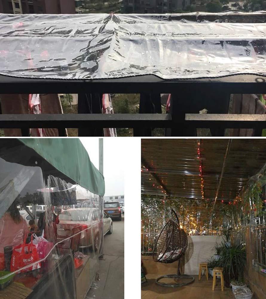 WDXJ Telo di di di Copertura Trasparente per Tende per Tende da Giardinaggio Telo Impermeabile in PVC Trasparente 95% Tenda Tenda per Tende Pesanti, 440 g m² (Dimensioni   4x4M) be8560