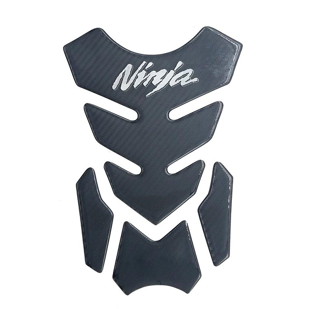 Carbon Fiber Motorcycle Chrome Logo Decal Vinyl Tank Protector 8.6 Pad For Kawasaki Ninja 650 250 300 ZX6R ZX10R ZX12R ZX14R H2 H2R