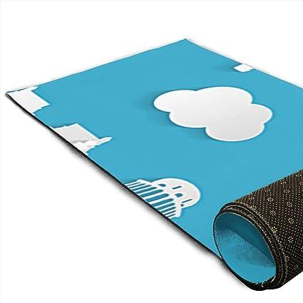 Amazon.com : CCRIM Travel Sticker Print Crystal Velvet Yoga ...