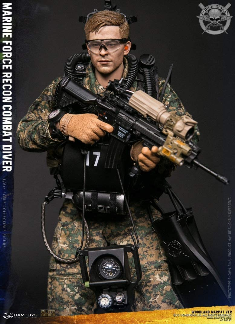 1:6 scale DAM TOYS 78055 MARINE FORCE RECON COMBAT DIVER Woodland GLOVES x4