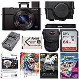 Sony DSC-RX100M3/B RX100 III Cyber-shot Digital Camera w/Premium Jacket Case & 64GB SD Card Bundle