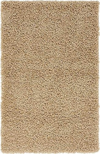 Unique Loom Solid Shag Collection Taupe 3 x 5 Area Rug (3' 3