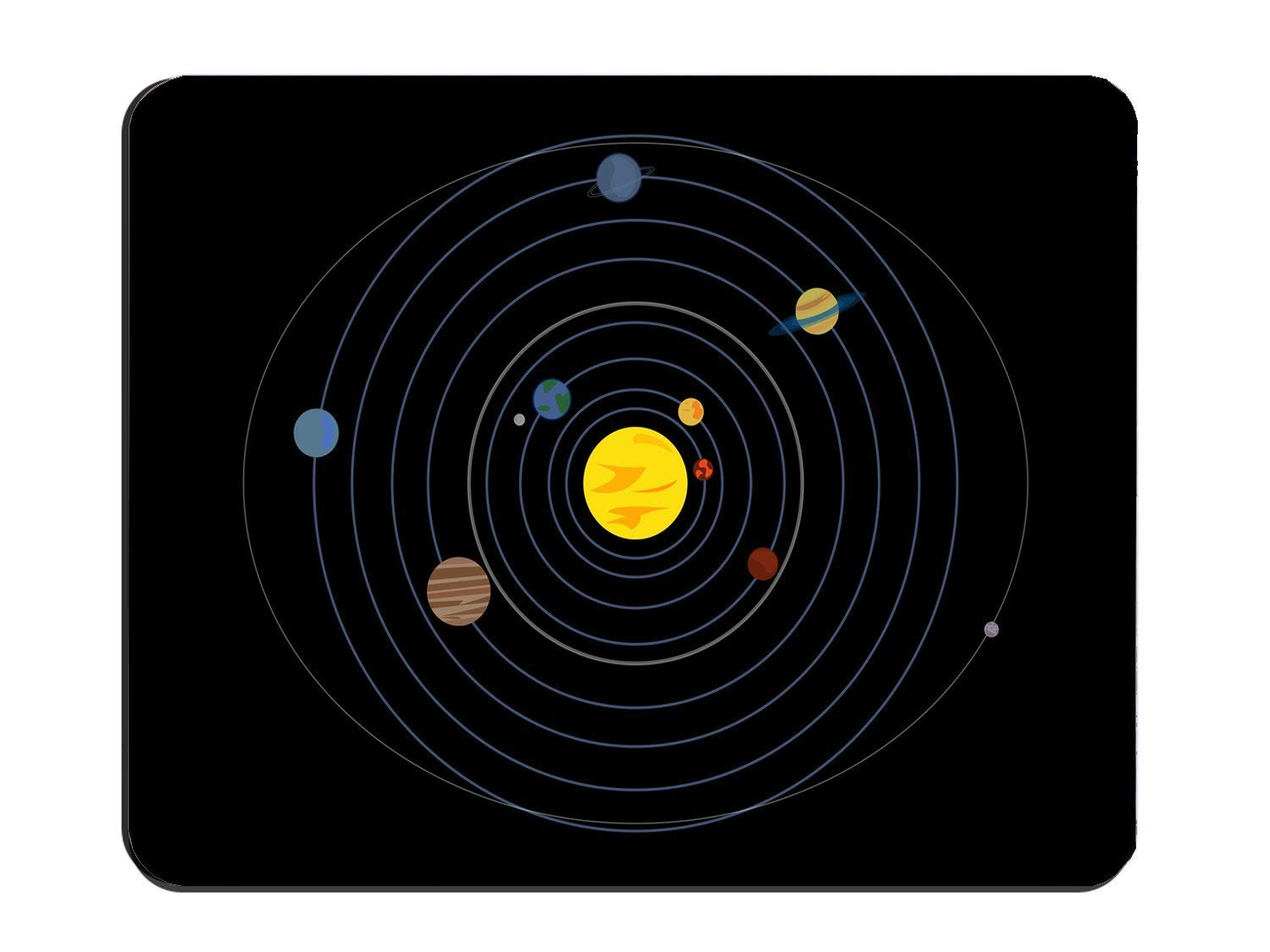 Solar System Planets Non-Slip Rubber Mousepad, Gaming Mouse Pad 8.7'' x 7.08'' inch