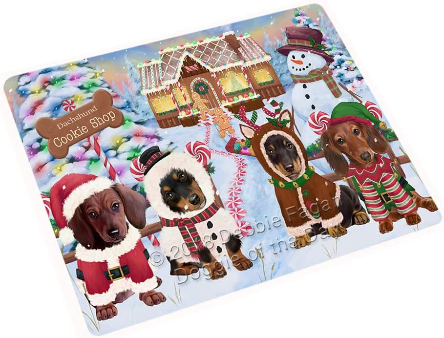 "Holiday Gingerbread Cookie Shop Dachshunds Dog Large Refrigerator/Dishwasher Magnet RMAG98940 (18"" x 24"")"
