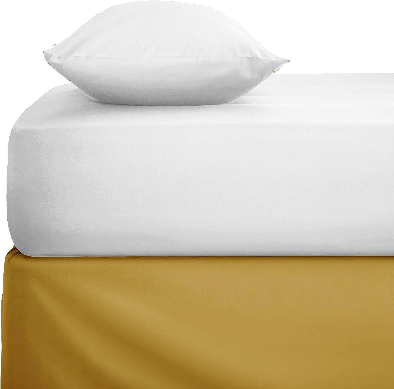100/% cotone egiziano pettinato ad alta densit/à di fili tinta unita bianco King 100/% cotone lenzuolo con angoli qualit/à da hotel Bemode