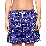 ATTRACO Womens UPF 50+ Quick Dry Active Prints Swim Boardshort DBL L