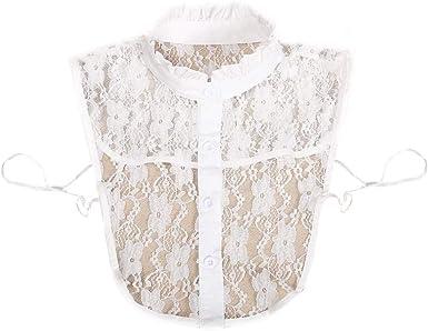 Karazhan - Moda Mujer Camisa Sólida de algodón Collares Falsos de ...