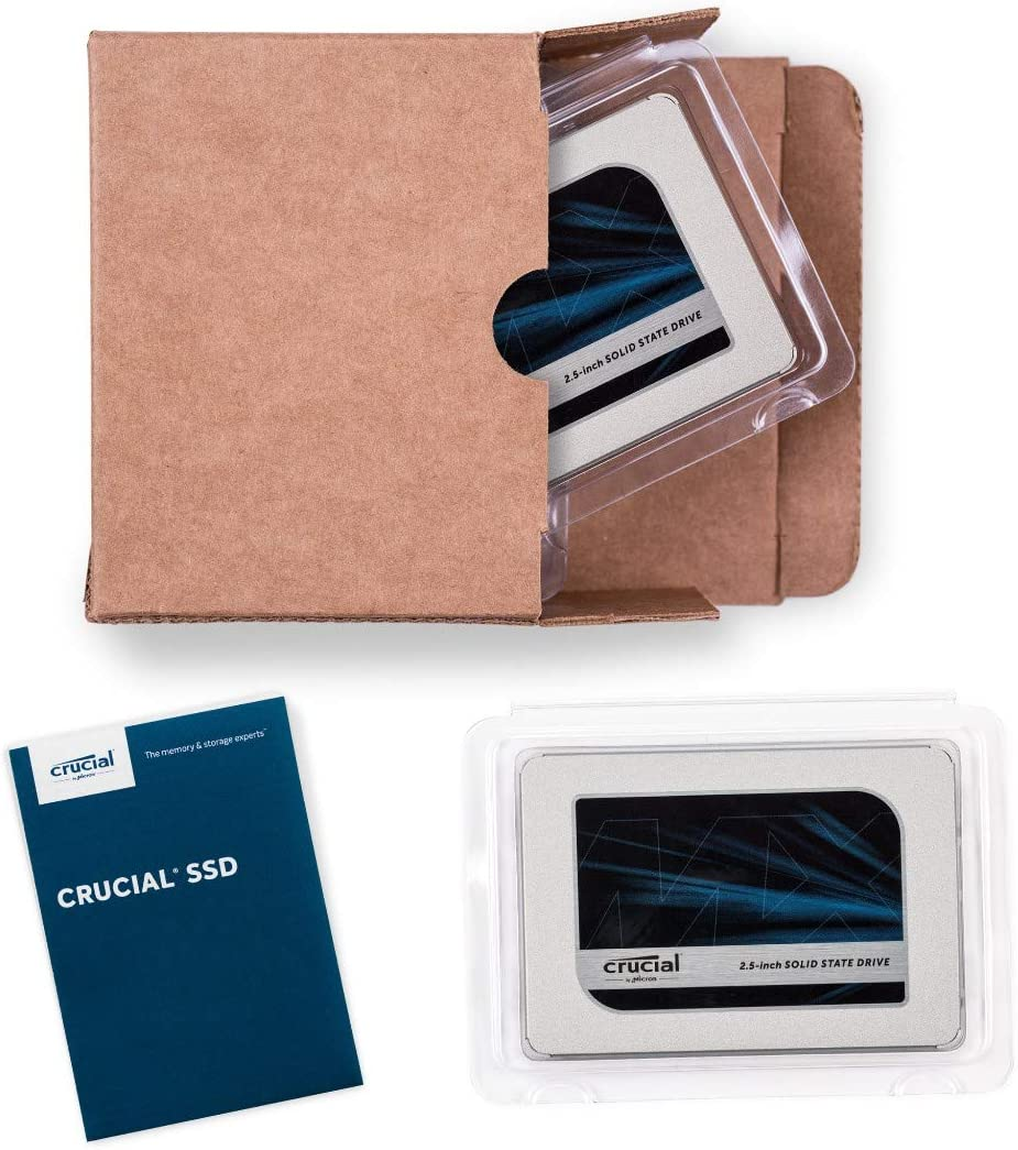 Crucial CT2000MX500SSD1 SSD interne MX500 2To, 3D NAND, SATA, 2,5 pouces Z