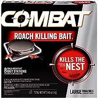 Combat Roach Killing Bait, Large Roach Bait Station, 8...