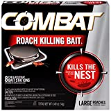 Combat Roach Killing Bait, Large Roach Bait Station, Kills the Nest, Child-Resistant,...