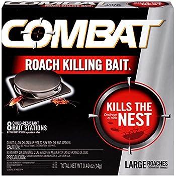 Combat Roach Killing Bait, Large Roach Bait Station, 8 Count