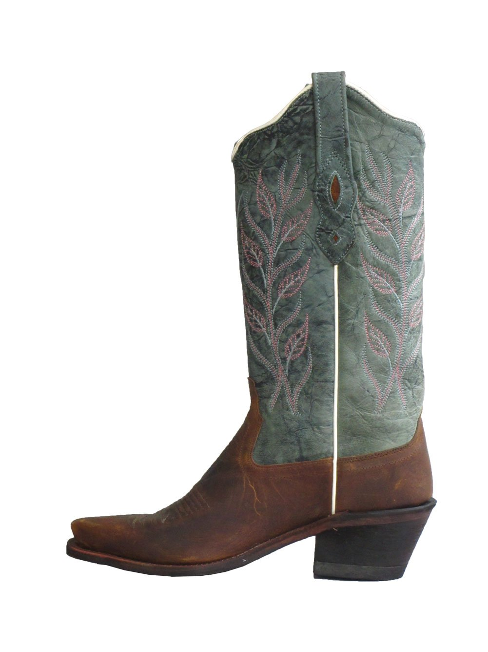 Old West Blue Womens Oily Leather 12