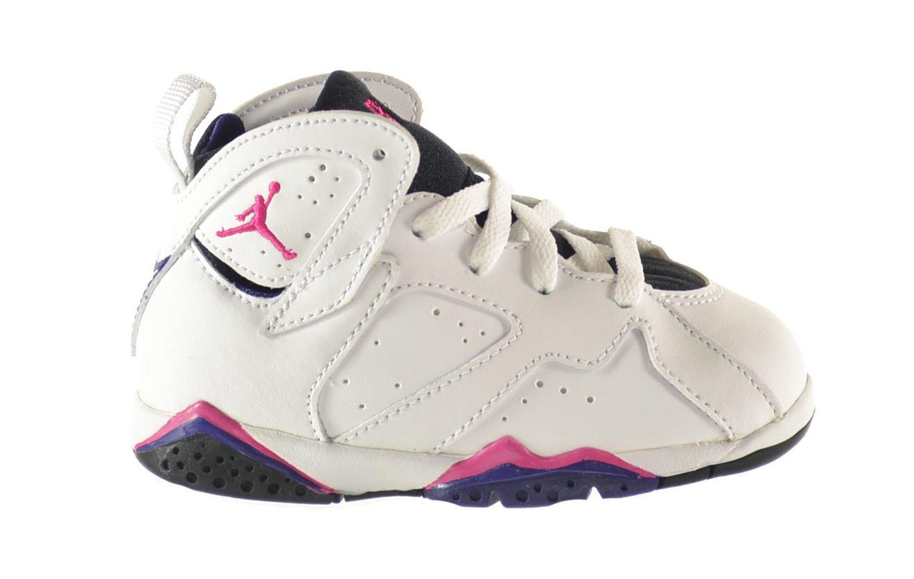 Jordan 7 Retro (TD) Baby Toddlers Shoes White/Fireberry-Black-Night Blue 304772-117 (7.5 M US) by Jordan